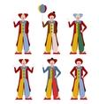 set clowns vector image