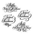 set Happy Vasant Panchami Utsav handwritten ink vector image vector image