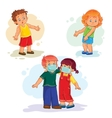 Set icons little children sick vector image vector image