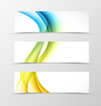 Set of header banner dynamic design vector image vector image