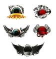 set racing emblems vector image vector image