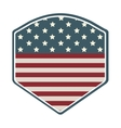 shield with american flag icon vector image