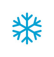 snowflake simple blue color icon vector image vector image
