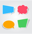 sticky speech bubbles in flat design with shadows vector image vector image