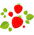 strawberry flat design isolate vector image