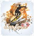 surfing coconut vector image vector image