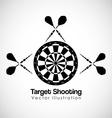 target shooting design vector image