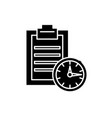 time limit black icon sign on isolated vector image vector image