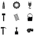 tool icon set vector image vector image
