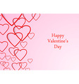 Valentine beutiful background with hearts vector image vector image