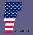 vermont state of america with map flag print on vector image vector image