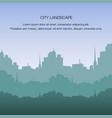 view city landscape silhouette building metropolis vector image vector image