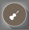 violin sign white icon on vector image vector image