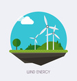 Wind energy Landscape and industrial factory vector image