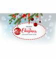 winter holiday round banner vector image vector image