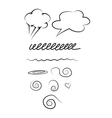 Set of hand-drawn elements vector image
