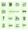 14 architecture icons vector image vector image