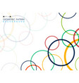 abstract of colorful geometric circle line vector image vector image