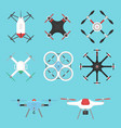 aerial vehicle drone vector image vector image