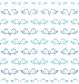 Angel wings seamless sketch pattern vector image vector image