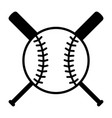 baseball bats and ball or baseball tournament icon vector image