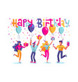 birthday people set group happy people vector image vector image