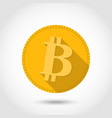 bitcon icon flat designcryptocurrency vector image