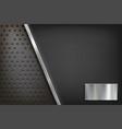 blank plate made polished steel metal vector image vector image