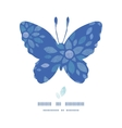 Blue buttefly frame textile peony flowers seamless vector image vector image