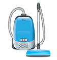 Blue Vacuum Cleaner vector image vector image