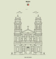 bom jesus church in braga portugal vector image vector image