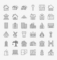 building line icons set vector image