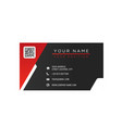business card red and black background imag vector image