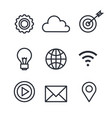 business concept isolated set icons vector image