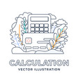 calculator and credit card stock isolated vector image