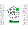 car repair and service template vector image vector image