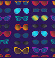 cartoon glasses and sunglasses seamless pattern vector image