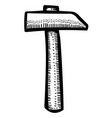 cartoon image of hammer icon vector image vector image