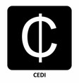 Cedi currency symbol
