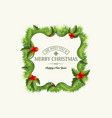 christmas greeting template vector image
