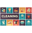 cleaning - modern flat design icons set vector image vector image