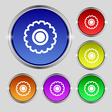 cogwheel icon sign Round symbol on bright vector image vector image