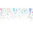 colorful confetti and serpentine ribbons falling vector image