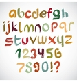 Colorful grunge font vector image vector image