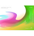 colorful wavy fluid gradient color background vector image