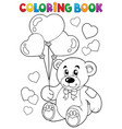 coloring book valentine theme 7 vector image