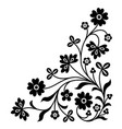 corner ornament vector image