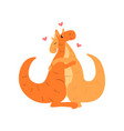 couple of cute kangaroos in love embracing each vector image vector image