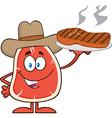 Cowboy Steak Cartoon vector image vector image