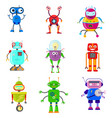 cute robots in flat style vector image vector image